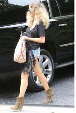 Isabel Marant Etoile Rawson Harness Ankle Boots Suede Khaki Size 38