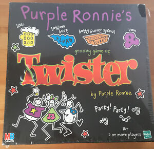 MB Games Purple Ronnie's Groovy Game of Twister - For Ages 16+ - Still Sealed