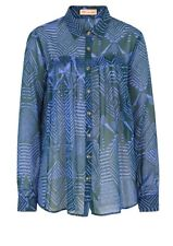 Matthew Williamson Silk Chiffon Shirt -Teal Blue Green 8UK / XS -RRP £270 - SALE