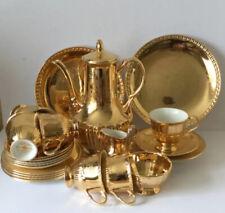 Vintage Crown Devon 'Victoriana' Ironstone Gold Lustre 23 Piece Tea Set
