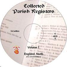 300+ Parish Registers genealogy records Vol 1 North England plus, on DVD