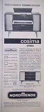 PUBLICITÉ 1961 NORDMENDE COSIMA STÉRÉO RADIO SOUS LA GARANTIE ELPHORA DIFFUSION