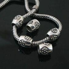 15pcs Tibetan Silver flower spacer Beads Fit European charm  Bracelet  L0094