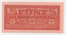 Germany 5 Reichspfennig ND 1942 Pick M33 UNC Uncirculated Banknote