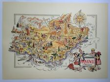 PROVENCE FRANCE 1951 by JACQUES LIOZU LARGE PICTORIAL MAP XXe CENTURY