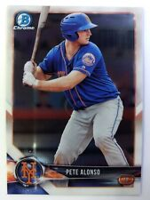 2018 18 Bowman Chrome Prospect Peter Alonso Rookie RC #BCP137, New York Mets