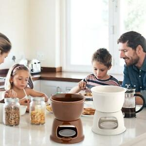 DIY Kitchen Chocolate Warmer Cheese Melting Pot Ceramic Fondue Melter Machine