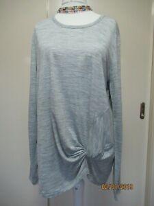 NWT Country Road grey wool blend Twist Top - sizes L & XL