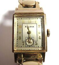 VINTAGE BULOVA 21 JEWELS WATCH 8AE 10k GOLD FILLED CASE.. RUNS