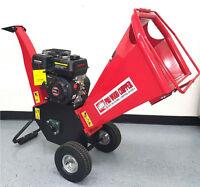 "New 6.5HP 195cc Gas Powered Wood Chipper Yard Machine Mulcher Shredder 4"" Inches"