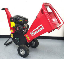 "New 6.5HP 195cc Gas Powered Wood Chipper Yard Machine Mulcher Shredder 4"" Inches"
