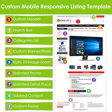 Custom eBay Listing Template HTML Professional Mobile Responsive Design - HTTPS