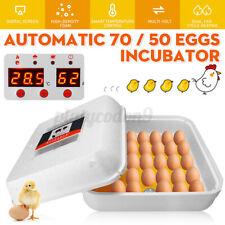 70/55 Egg Incubator Digital Automatic Hatcher Temperature Control Birds Hatching