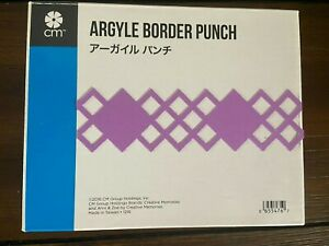 Creative Memories Decorative Argyle Border punch RARE Hard to Find