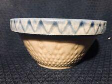 "Yelloware Stoneware Bowl 6"" Robinson Ranbottom Rare Sunburst Diamond Signed"