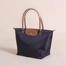 Longchamp New Le Pliage Nylon Tote Handbag Purple Large Authentic France