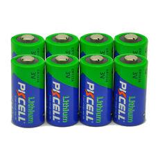 (8 Pack) PKCELL EL123A CR123A 3 Volt Photo Lithium Batteries - EXP 2027