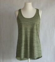 Mossimo Womens Tank Top Green Black Striped Racer Back Cami Top XXL