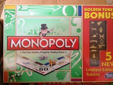 Monopoly Golden Token Bonus Edition 5 New Limited Token Editions Factory Sealed