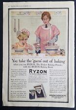 1917 Ryzon baking powder popovers recipe Maud tousey Fangel yelloware Bowl ad
