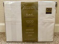 Wamsutta Dream Zone 1000-Thread Count PimaCott Queen Sheet Set Striped White
