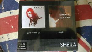 """SHEILA COFFRET 2 CD """"SOLIDE-JUSTE COMME CA"""" NEUF SCELLE"""