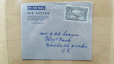 Cover Commonwealth Air Letter Sierra Leone Freetown to Harlech Wales 1946