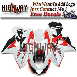 Motorcycle ABS Fairings Body Work Kits Set fit Suzuki GSXR1000 2009-2014 White