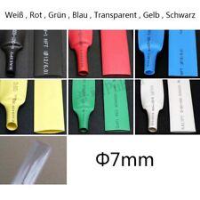 7mm Schrumpfschlauch für Strom Fahrzeug Leitung Verschiedene Farben Meterware