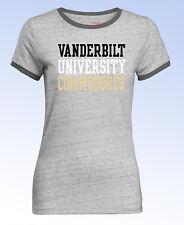 Camp David NCAA Womens Vanderbilt COMMODORES Ringer Short Sleeve TEE T-Shirt - M