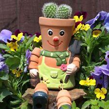 Bill & Ben Style Terracotta Flower Pot Man Planter Garden Ornament Birthday Gift