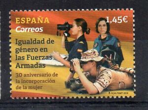 STAMPS - SPAIN - 2018 - ARMED FORCES - GENDER EQUALITY -