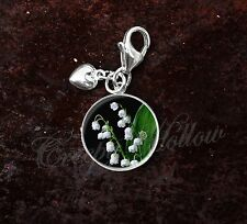 925 Sterling Silver Charm Lily Of The Valley Poisonous White Flowers