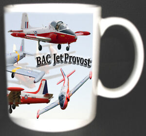 BAC JET PROVOST RAF TRAINER AIRCRAFT MUG. LIMITED EDITION COLLECTABLE GIFT NEW