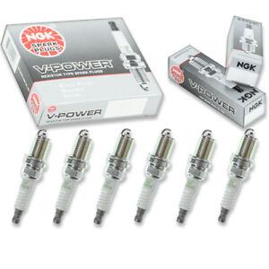 6 pcs NGK V-Power Spark Plugs for 1999-2010 Hyundai Sonata 3.3L 2.7L 2.5L V6 zj