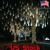 LED Meteor Shower Rain Lights Waterproof Xmas Decor Light Falling String Lights