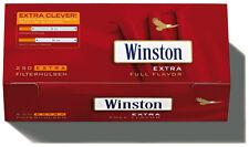 1000 (4X250) Winston EXTRA (maniche, guaina Filtro, SIGARETTE VUOTE)