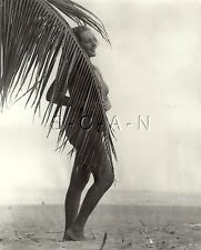 Original Vintage 1936 Large Semi Nude Pinup RP- Hidden Beauty- Miami Beach FL