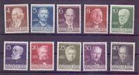 Berlin 1952 - Berühmte Männer MiNr. 91/100 postfrisch** - Michel 130,00 € (727)