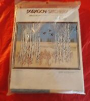 "Vintage Paragon Stitchery ""Majestic Birches"" Needlepoint Kit"