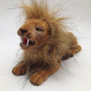 Flocked Bobble Head Lion King of Jungle Mane Auto Car Dashboard Adhesive Dash A