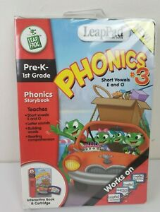 Leappad Learning Phonics #3 Learning System Short Vowels E and O Pre-K 1st Grade