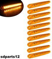 10 X Luci di Ingombro Arancione 24V Camion Fuoristrada Lkw 12 LED Luminosi IP