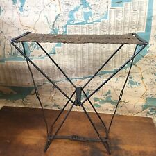 Vintage Early 1900's  Fishing Camping Portable Seat Chair Stool Rare Camping