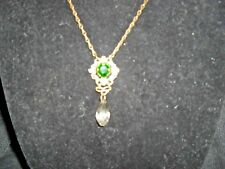 sweet romance neckless with faux stones vintage look