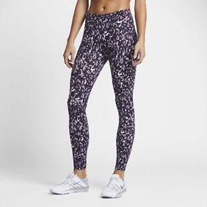 New Women's Nike Power Legendary Mid Rise Long Running Fitness Tights 8  XS