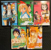 Nisekoi False Love 1-5 Manga 2, 3, 4 Viz Comedy Romance Shonen Jump English