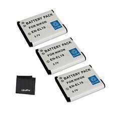 3x EN-EL19 ENEL19 Battery + BONUS for Nikon Coolpix S100 S5200 S3100 S4100 S4150