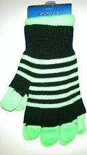 Fashion 2 in 1 Magic Gloves Set in Black and Green (one size fits all)