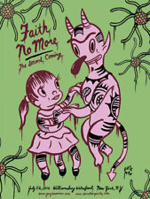 FAITH NO MORE New York 2010 silkscreened poster (green) by Gary Baseman
